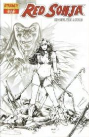 Red Sonja #17 Paul Renaud Retailer Sketch Incentive Variant